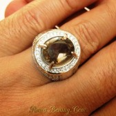 Cincin Smoky Quartz Ring 7.5 US