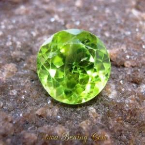 Batu Permata Round Green Peridot 2.35 carat