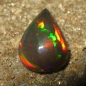 Pear Neon Green Black Opal 1.50 carat