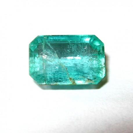 Zamrud Rectangular Cut 0.89 carat Warna Hijau Vivid Bening