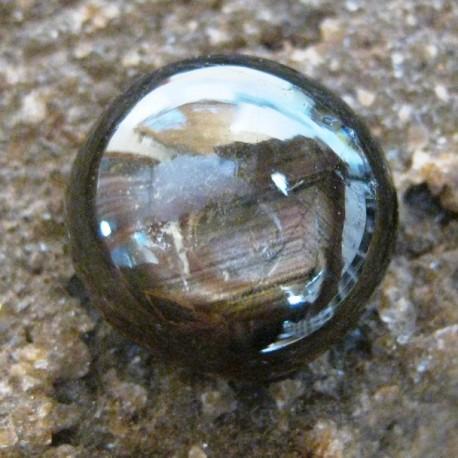Black Star Sapphire Round Cabochon 9.65 carat Super Klimis Gan..
