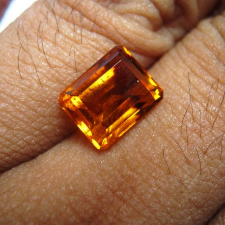 Top Fire Orange Citrine Rectangular 3.62 carat