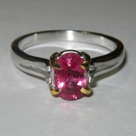 Cincin Wanita Pinkish Ruby Silver Ring 7.5 US