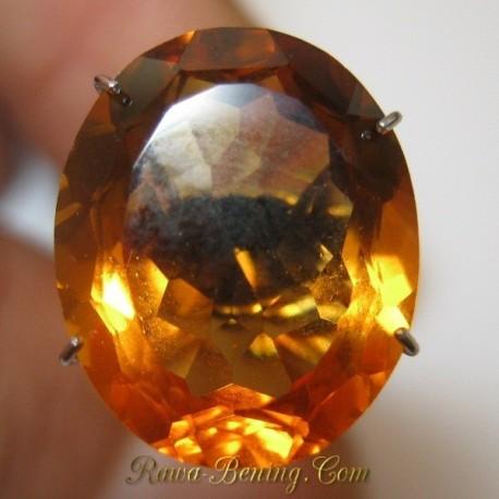 Batu Permata Top Fire Oval Orangy Citrine 6.99 carat