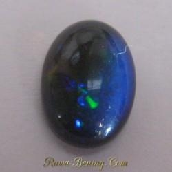 Black Opal Hijau Oranye 1.85 carat