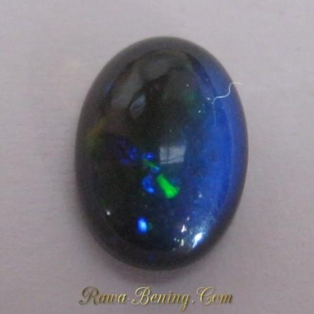 Batu Black Opal Hijau Oranye 1.85 carat