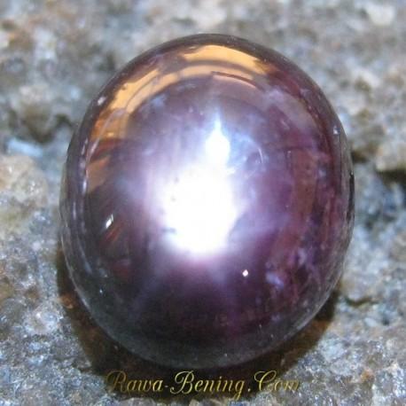 Batu Mulia Natural Star Ruby Merah Pekat 2.10 carat