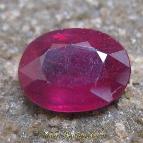 Batu Mulia Natural Ruby Blood Red Oval Cut 2.67 carat