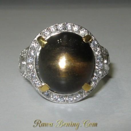 Cincin Wanita Batu Mulia Star Sunstone Silver 925 Ukuran 6.5 US