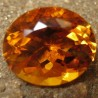 Batu Top Fire Citrine Orangy Yellow Oval 7.69 carat