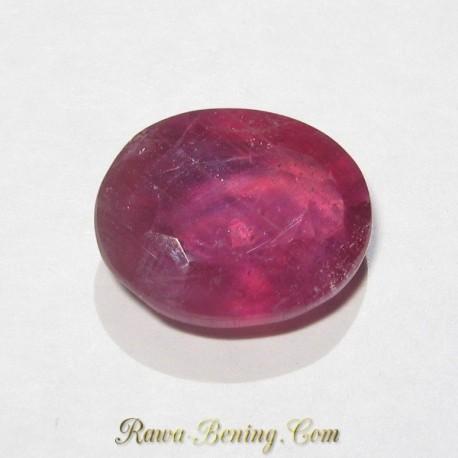 Safir Merah Mawar Oval Cut 5.59 carat