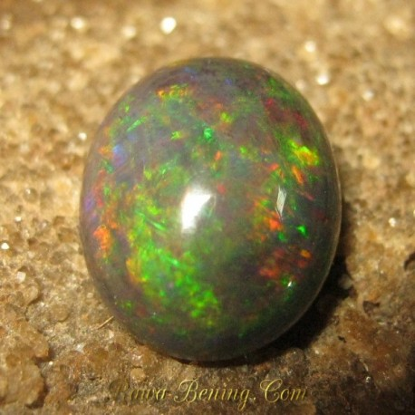 Batu Mulia Natural Black Opal Forest Multi Color 1.90 carat