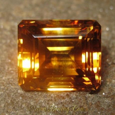 Batu Permata Natural Citrine Berkualitas Rectangular Besar 17.37 carat