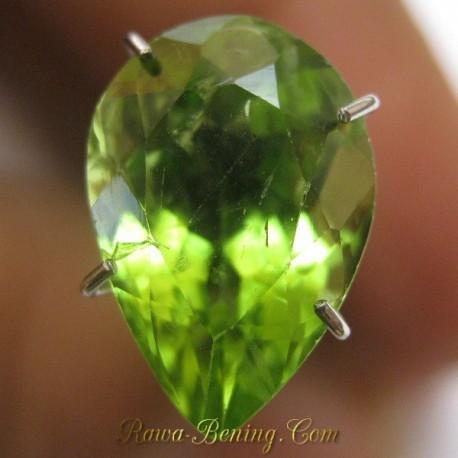 Batu Permata Natural Peridot Pear Shape 3.35 carat