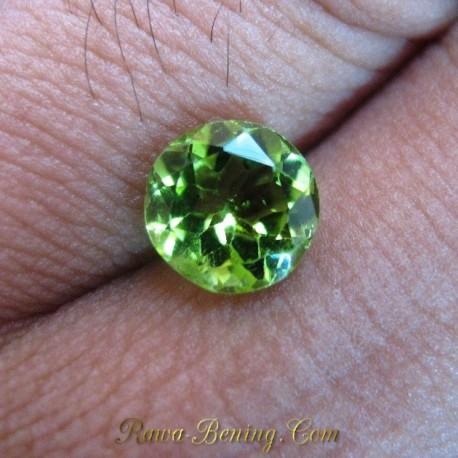 Batu Permata Round Yellowish Green Peridot 1.80 carat