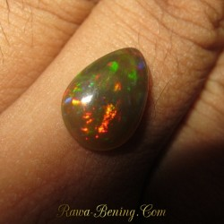 Pear Shape Black Opal 1.95 carat