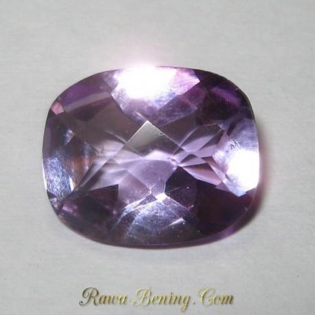 Batu Permata Cushion Purple Amethyst 3.78 carat