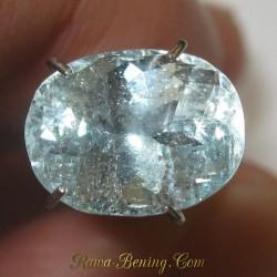 Batu Permata Aquamarine 2.49 carat Natural Unheated Untreated ~ www.Rawa-Bening.Com