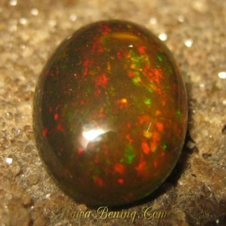 Harga Natural Black Opal Gradasi Jarong Rintik 2.40 carat www.rawa-bening.com