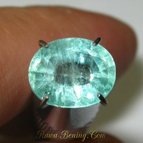 Natural Zamrud Hijau Indah Berkualitas 1.74 carat