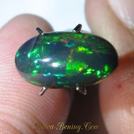 Jual Batu Black Opal Rainbow 3D 1.68 carat ~ www.Rawa-Bening.Com