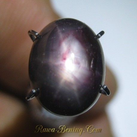 Promo Natural Star Ruby Purplish Red 4.70 carat www.rawa-bening.com