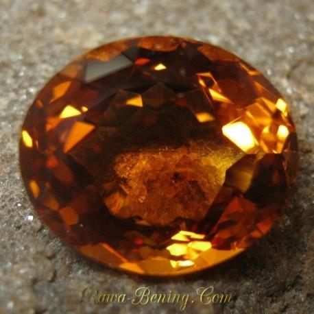 Promo Batu Permata Asli Big Beauty Oval Citrine 10.94 carat www.rawa-bening.com