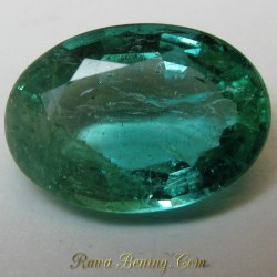 Oval Green Emerald VS 1.20 carat