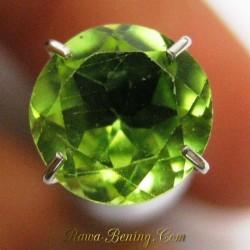 Batu Mulia Natural Peridot Hijau Greenish Bundar 1.35 carat