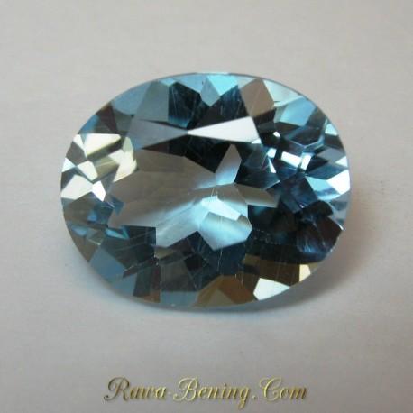 Jual Batu Cincin Permata Baby Swiss Blue Topaz 3.25 carat
