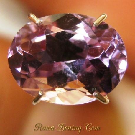 Batu Mulia Natural Kecubung Ungu Oval Indah 1.80 carat