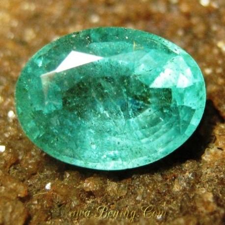 Jual Natural Zamrud Hijau Pekat Oval VS 1.75 carat www.rawa-bening.com