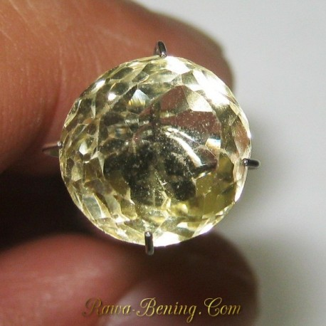Natural Round Cut Light Yellow Citrine 4.35 carat
