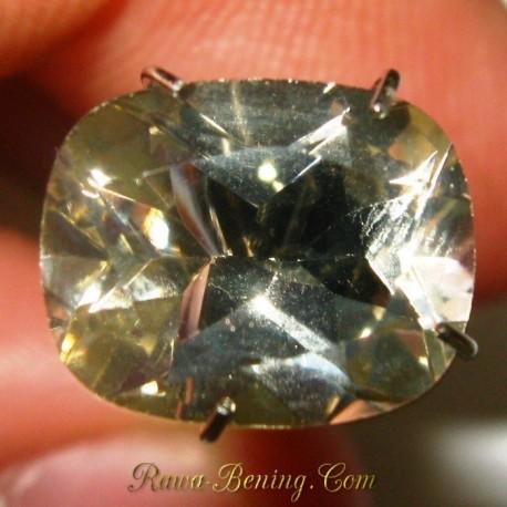 Batu Permata Natural Citrine Light Yellow Cushion Cut 2.75 carat