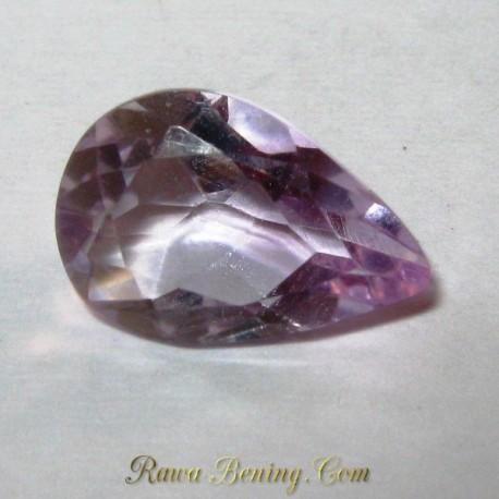 Batu Permata Amethyst Light Purple Pear Shape 2.40 carat