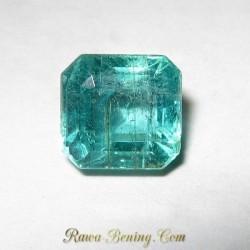 Zamrud Hijau Kotak Bening 1.18 carat