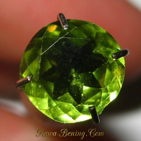 Permata Natural Green Peridot Round Cut 1.25 carat