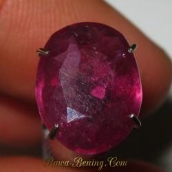 Natural Reddish Orange Oval Sapphire 3.46 carat