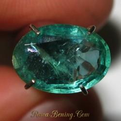 Promo Batu Mulia Natural Zamrud Hijau Oval Cut 1.53 carat www.rawa-bening.com