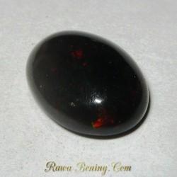 Batu Black Opal Multi Color 5.45 carat
