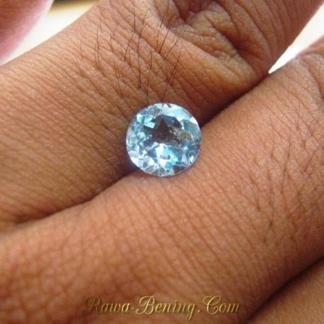 Batu Permata Natural Sky Topaz Round 2.30 carat