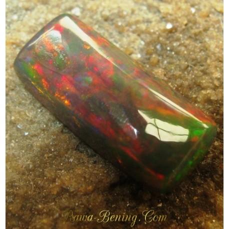 Harga Batu Mulia Natural Black Opal Persegi Panjang 1.75 carat www.rawa-bening.com