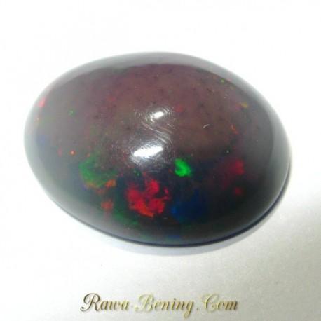 Batu Black Opal Multi Color 3.30 carat