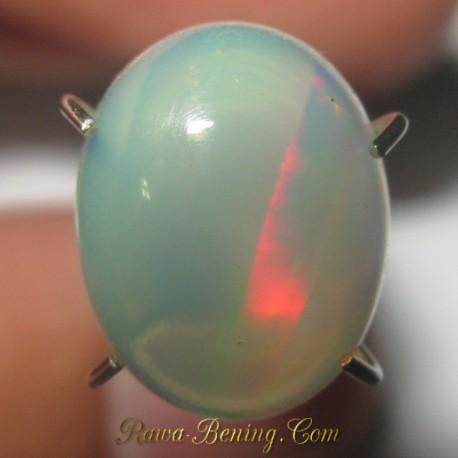 Batu Mulia Natural Opal Half Rainbow 1.48 carat