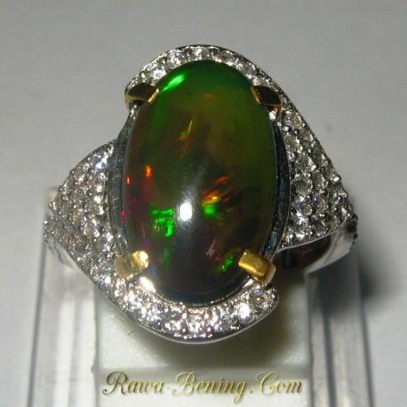 Cincin Wanita Black Opal Wanita 6US
