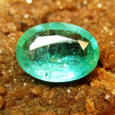 Natural Vivid Green Emerald 1.11 carat