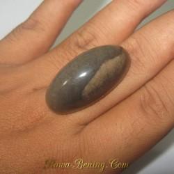 Jual Batu Akik Jasper Coklat Asap Antik 78.79 carat www.rawa-bening.com