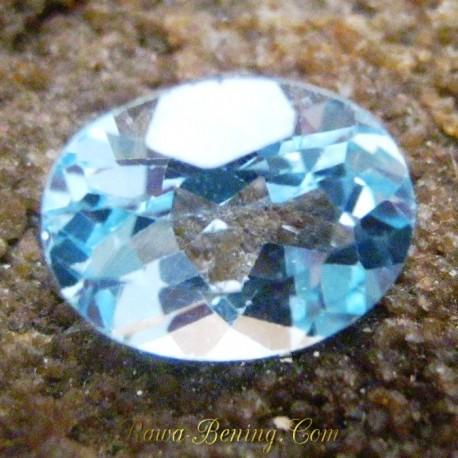 Batu Permata Oval Sky Topaz Bening 2.55 carat
