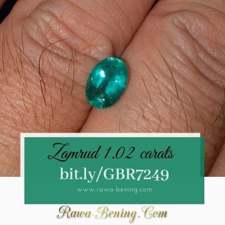 Batu Zamrud 1.02 carat www.rawa-bening.com