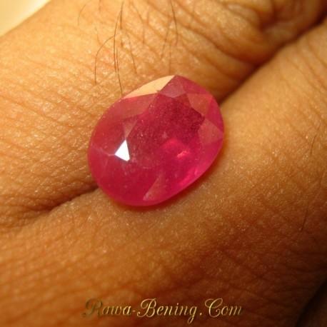 Batu Mulia Natural Oval Orange Sapphire 5.35 carat